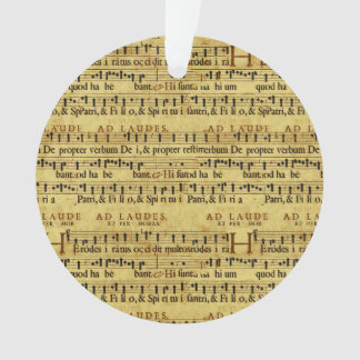 Musical Score Notation Old Paper Design Ornament
