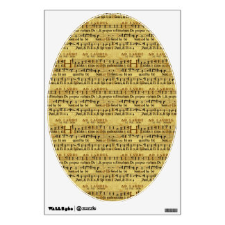 Musical Score Notation Old Paper Design Wall Decal