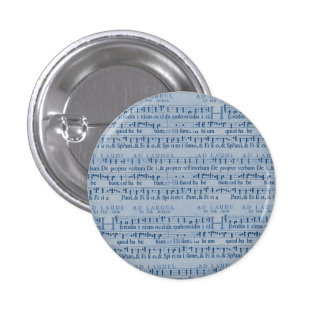 Musical Score Old Blue Paper Design Buttons