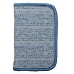 Musical Score Old Blue Paper Design Folio Planner