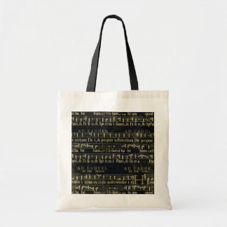 Musical Score Old Chalkboard Design Bags
