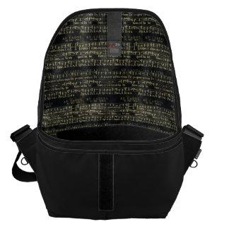 Musical Score Old Chalkboard Design Courier Bag