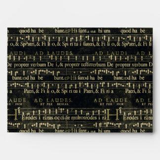 Musical Score Old Chalkboard Design Envelope