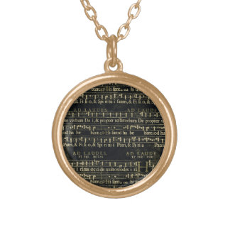 Musical Score Old Chalkboard Design Custom Jewelry