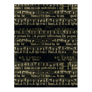Musical Score Old Chalkboard Design Postcard