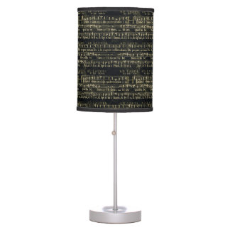 Musical Score Old Chalkboard Design Table Lamp