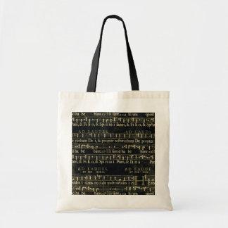 Musical Score Old Chalkboard Design Tote Bag