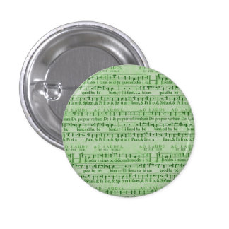 Musical Score Old Green Paper Design Pins