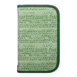 Musical Score Old Green Paper Design Organizer
