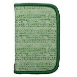 Musical Score Old Green Paper Design Organizers