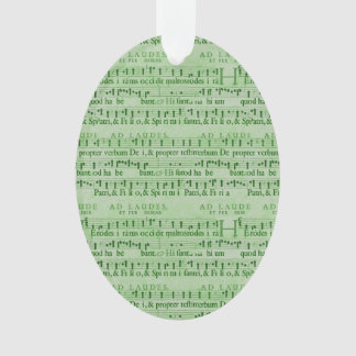 Musical Score Old Green Paper Design Ornament