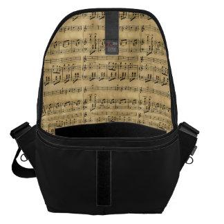 Musical Score Old Parchment Paper Design Courier Bag