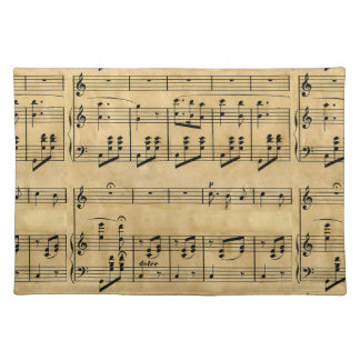 Musical Score Old Parchment Paper Design Cloth Placemat