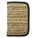 Musical Score Old Parchment Paper Design Folio Planners