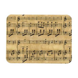 Musical Score Old Parchment Paper Design Rectangular Magnets