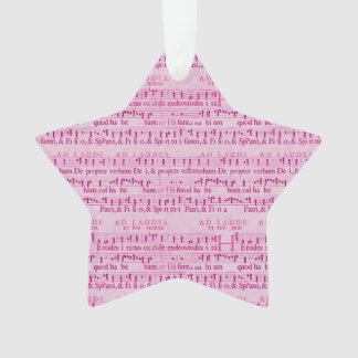 Musical Score Old Pink Paper Design Ornament