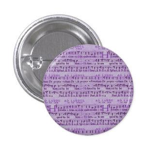 Musical Score Old Purple Paper Design Button
