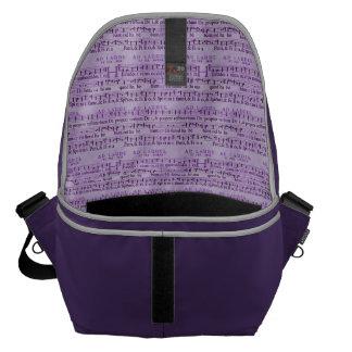 Musical Score Old Purple Paper Design Messenger Bag