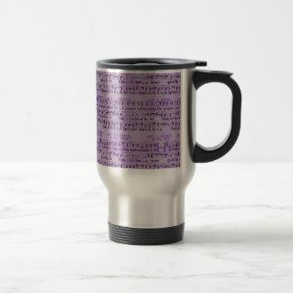 Musical Score Old Purple Paper Design 15 Oz Stainless Steel Travel Mug