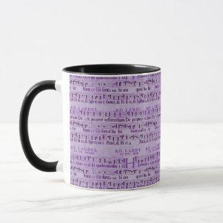 Musical Score Old Purple Paper Design Mug