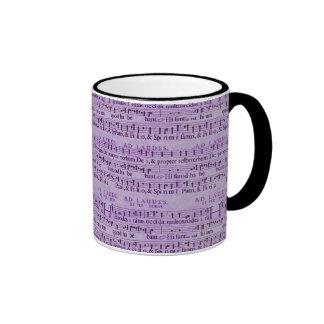 Musical Score Old Purple Paper Design Ringer Coffee Mug