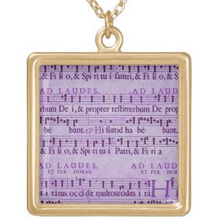 Musical Score Old Purple Paper Design Custom Jewelry