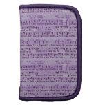 Musical Score Old Purple Paper Design Planner