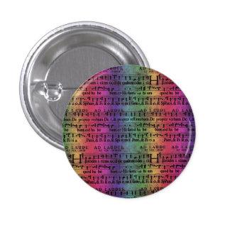 Musical Score Old Rainbow Paper Design Pinback Button