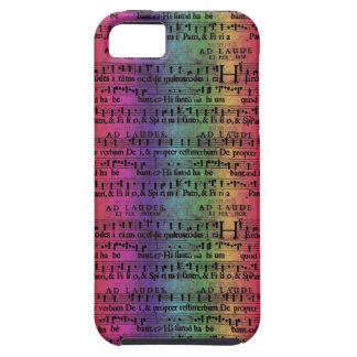 Musical Score Old Rainbow Paper Design iPhone SE/5/5s Case
