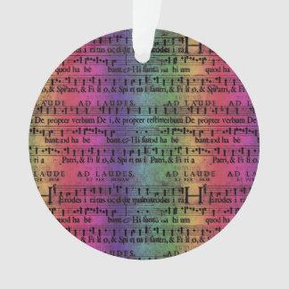 Musical Score Old Rainbow Paper Design Ornament