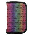 Musical Score Old Rainbow Paper Design Folio Planner