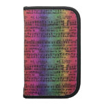 Musical Score Old Rainbow Paper Design Planners