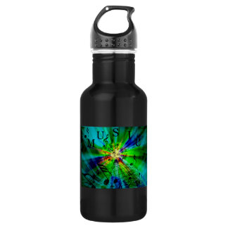Musical Score on an Abstract Background 18oz Water Bottle