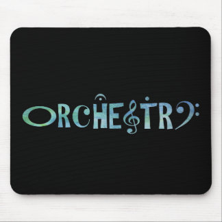 Musical Scrip Orchestra Mouse Pad
