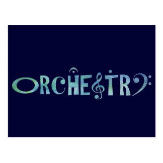 Musical Scrip Orchestra Postcard