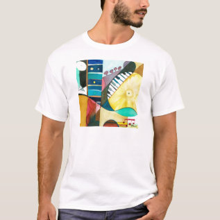 Musical Series - Guitar Tracks T-shirt at Zazzle