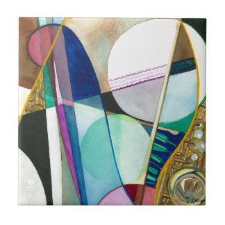 Musical Series - Jazz Quartet Ceramic Tile