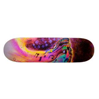 """""""Musical Skull II"""" by Debi Blount Skate Decks"""