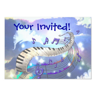 Musical Sky, Your Invited! Card