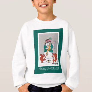 Musical Snowman and Squirrels - Merry Christmas Sweatshirt