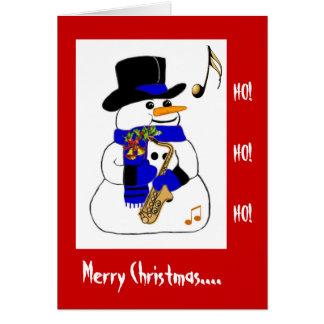 Musical Snowman Greeting Card