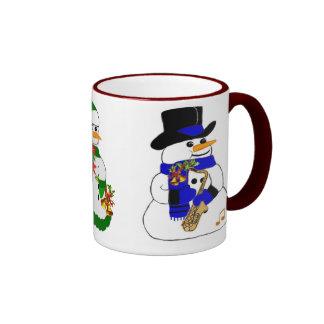 Musical Snowman Ringer Mug