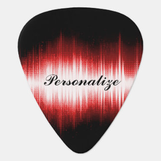 Musical Sound Wave Design Guitar Pick
