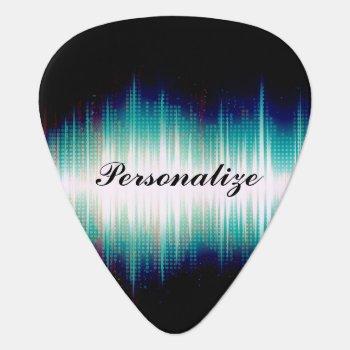 Musical Sound Wave Design Guitar Pick by DesignsbyDonnaSiggy at Zazzle