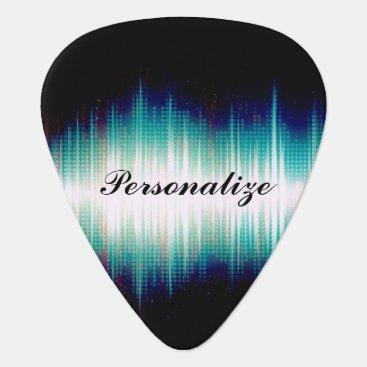 designsbydonnasiggy Musical Sound Wave Design Guitar Pick