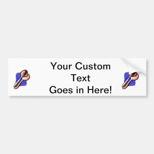 Musical Spoons Graphic Image Car Bumper Sticker