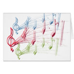 Musical Staff Greeting Card