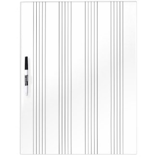 Musical Staff System (with 4 Blank Empty Staves) Dry Erase Board