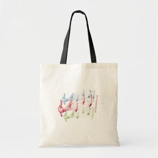 Musical Staff Tote Bag