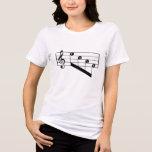 Musical Staff Treble Clef Love Notes Black Design Tee Shirts